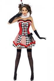 Circus Halloween Costume Womens Harley Quinn Clown Circus Halloween Costume Red Pink