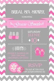 spa chevron bridal wedding shower invitation any colors or spa