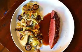 cuisiner le magret magret de canard aux épices douces et tagliatelles forestière