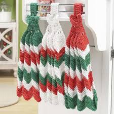 christmas towels herrschners christmas ripple towels crochet yarn kit