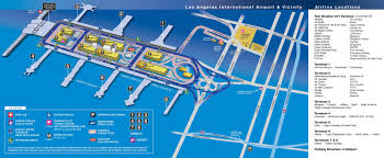 Map Los Angeles Los Angeles Airport Map