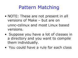 pattern rule directory introduction use of makefiles to manage the build process