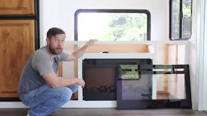 installing tv lift and electric fireplace inside rv youtube