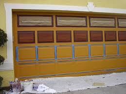 how to paint steel garage doors to look like wood