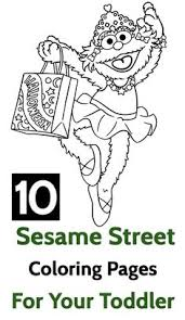 printable sesame street coloring pages 1st