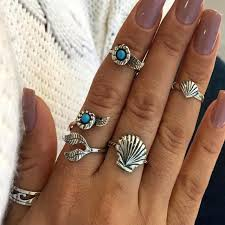 midi rings set bohemian midi rings set need that