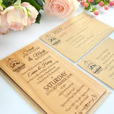 wooden wedding invitations 11b size engraved wooden wedding invitations wooden invites