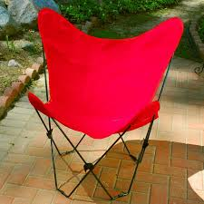 Folding Butterfly Chair Folding Butterfly Chair With Black Steel Frame And Cotton Cover