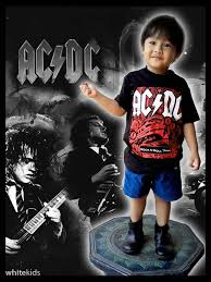Baju Ac Dc kaos band anak whitekids ac dc led zeppelin the beatles the