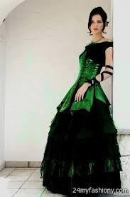 green wedding dress black and green wedding dress 2016 2017 b2b fashion