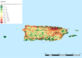 Map Of Us And Puerto Rico by Population Density Of Puerto Rico By Us Census Block Oc