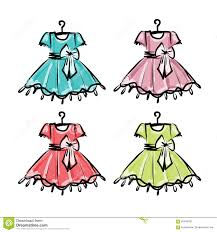 Hangers For Baby Clothes Baby Dress Sketch Clothes On The Hanger Stock Vector Image