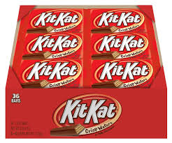 best place to buy candy for halloween amazon com kit kat candy bar milk chocolate covered crisp wafers