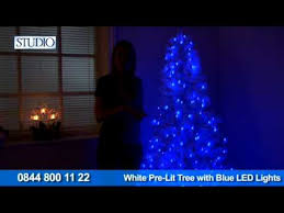 24studio white pre lit tree with blue led lights youtube