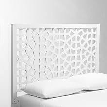 White Wooden Headboard Modern Headboards Platform Beds West Elm