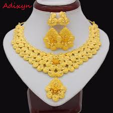gold flowers necklace images Adixyn gold flowers necklace earrings set jewelry women girls gold jpg