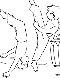 martial arts coloring pages handipoints
