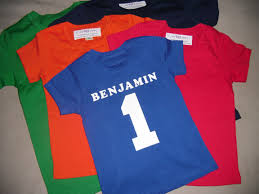 boys birthday jersey style personalized 1 shirt