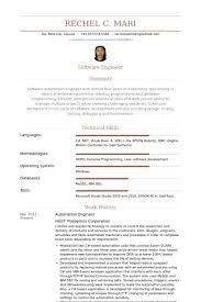 Qa Automation Engineer Resume Automation Engineer Sample Resume Haadyaooverbayresort Com