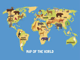 Flat Map Of World by Which Continent Has The Highest Number Of Endangered Species