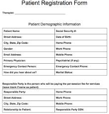patient registration form templates pinterest notes template