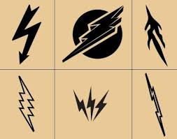 clipart lightning bolt pencil and in color clipart