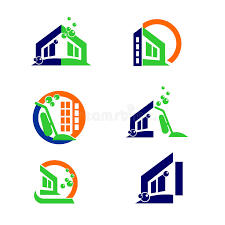 design elements in a home commercial home cleaning logo and apps icon design elements stock