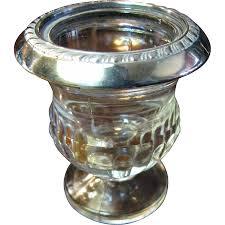 sterling silver rimmed glass cigarette trinket or toothpick