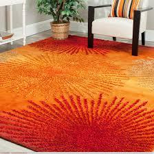 Orange Area Rug 5x8 Awesome Orange Area Rugs Roselawnlutheran Regarding Burnt Popular