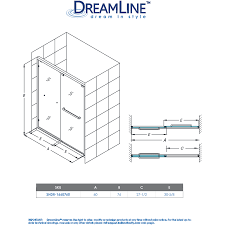 Dreamline Infinity Shower Door by Encore Bypass Sliding Shower Door Dreamline