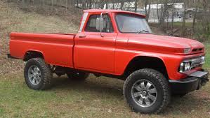 lifted gmc red bangshift com 1964 chevy detroit diesel