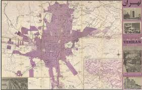 Tehran Map Middle East Asia Maps And Prints