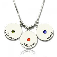 Customized Birthstone Necklace Personalized Birthstone Necklace For Mom Opersonalized Com
