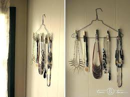 necklace organizer images Jewelry holder wall necklace organizer display ideas hanger jpg