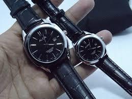Jam Tangan Alba alba kulit hitam black fill jam tangan alba tali kulit