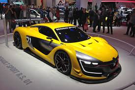 renault sport rs 01 a yellow and black renault