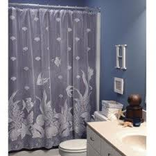 Seashell Curtains Bathroom Seashell Fabric Shower Curtain Foter