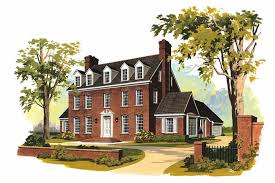 brick colonial house plans georgian colonial house plans home design hw 2662 17581