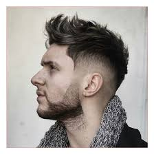 mens haircut number 1 plus disheveled brush up with high taper