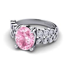 rings pink stones images Order pink sapphire engagement rings jpg