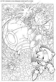Coloriage pour enfant Sonic