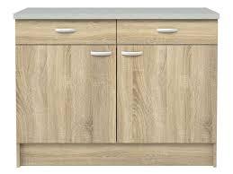 meuble bas de cuisine meuble bas cuisine 2 portes 2 tiroirs casa coloris chêne vente