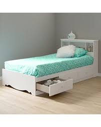 Upholstered Headboard Storage Bed by Fancy White Twin Storage Bed With Bookcase Headboard 87 With