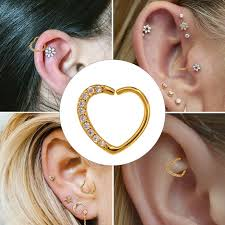heart cartilage aliexpress buy piercing ear cartilage heart right closure