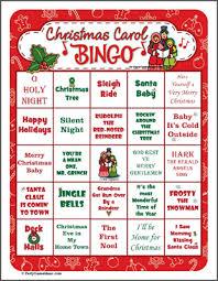 christmas bingo printable christmas party game