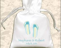 flip flop bag bridal bags personalized drawstring favor bags with flip flop design