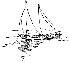 clipart schooner rigged sharpie