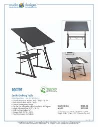 Studio Designs Drafting Tables Studio Designs Zenith Drafting Table
