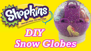 diy custom shopkins glitter snow globe perfect gifts or party