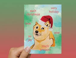 Doge Meme Christmas - doge meme christmas card